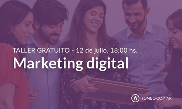 Taller gratuito de marketing digital